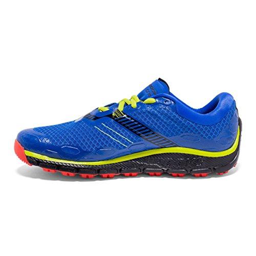 Brooks Puregrit 5, Chaussures de Course Homme Bleu (Electric Brooks Blue/black/lime Punch)