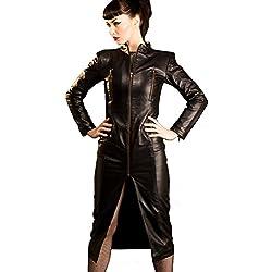 Vestido de dominación de cuero, negro, todas las tallas | Fetiche