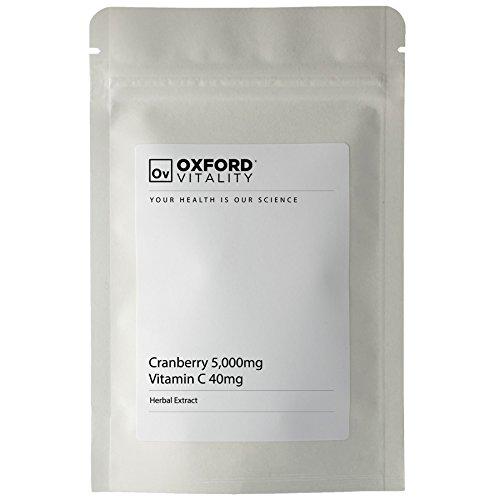 Oxford Vitality - Preiselbeere 5000mg + Vitamin C 40 mg Tabletten (Frucht Potente)