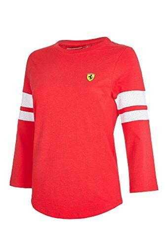 6c916facd44adf -2017 Scuderia Ferrari Damenhemd mit Dreiviertelärmel, T-Shirt in Größen EU  32 -
