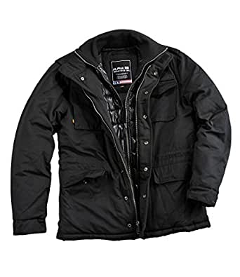 alpha industries forrester winterjacke black. Black Bedroom Furniture Sets. Home Design Ideas