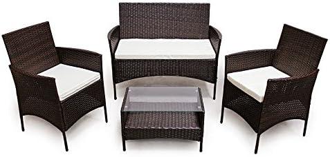 SVITA Poly Rattan Sitzgruppe Essgruppe Set Farbwahl   Cube Sofa Garnitur  Gartenmöbel Lounge Farbwahl (