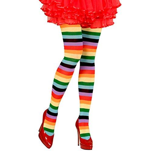NET TOYS Unas Medias de Aros de Colores Un par de Medias con arcoíris Pantis de Mujer con círculos Panti Chicas Leotardo Nylon Leggings Finos