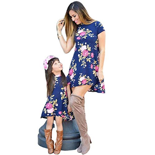 Wide.ling Mutter und Tochter Partnerlook, Mutter Tochter Minikleid Set Ballkleid Brautkleider...