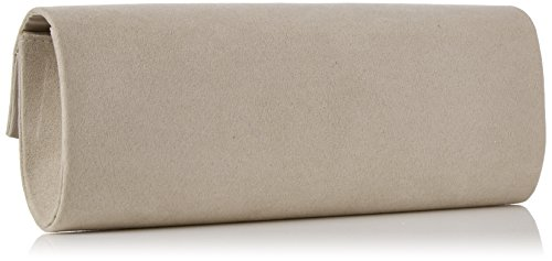 Dorothy Perkins - Structured Clutch, Pochette da giorno Donna Grigio (Grey)