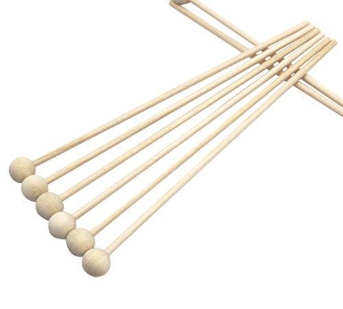 (Lutscherstäbchen aus Holz mit Saugnapf, 15 cm lang, 100 Stück)