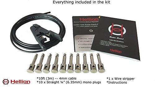 Hellion Lötfreies Gitarren-/Bass-Patchkabel-Kit 10ft (3m) Sloderless Cable Kit (Full kit) -