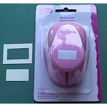 20 x 10 x 4 cm Pink Efco Punch L Rectangle 33 x 18 mm