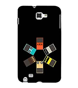 Fuson Designer Phone Back Case Cover Samsung Galaxy Note N7000 :: Samsung Galaxy Note I9220 :: Samsung Galaxy Note 1 :: Samsung Galaxy Note Gt-N7000 ( Funky Illustration )