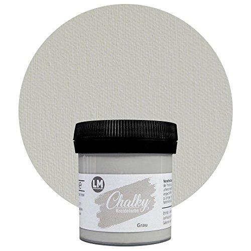 LM Chalky Kreidefarbe 80ml (Grau) --- Chalky finish Kreidefarbe, Shabby Chic, Viva Decor, Vintage...