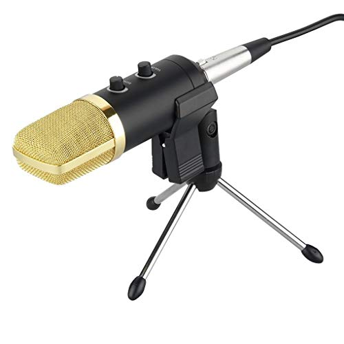 shangjunol Audio USB Voice Recorder microfono a condensatore Radio Broadcast Song Recording 3.5mm MIC