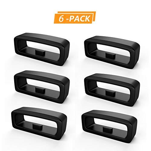 Webla 6x Uhr Gummibefestigungsring zum Ersetzen des Sicherheitsrings für Garmin Fenix5 / Fenix5 Plus, schwarz -