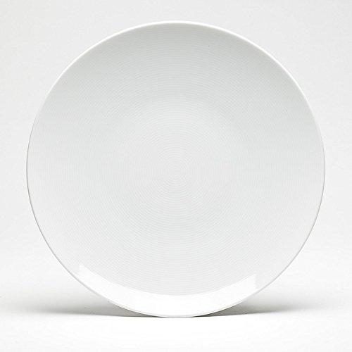 De-Lite Acrylic Quarter Dinner Plate, Round, 7.5 Inches, MILKY WHITE, Set of 3
