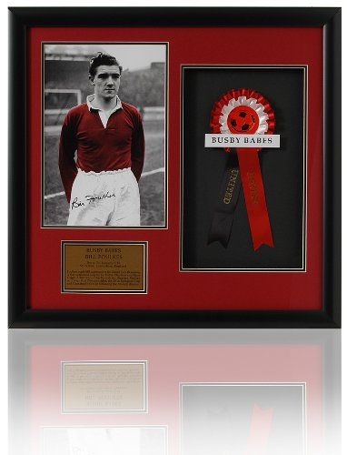 Grande main signé Bill Foulkes-Manchester United-Babes Busby présentation (LOT589)