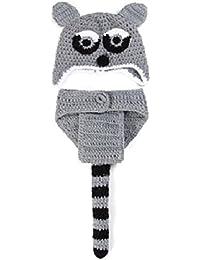 Matissa Nouveau-né Bébé Fille Garçon Crochet Tricot Costume ... 62b0d02fe1d9