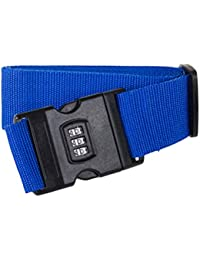 Vosarea Luggage Straps Adjustable Safety Travel Bag Accessories With Combination Lock - B07GZK4LCC
