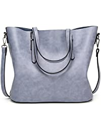 Karresly Women Top Handle Satchel Handbags Shoulder Bag Messenger Ladies Tote Bag Purse(Light-Blue)