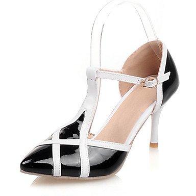 LFNLYX Donna Sandali estate D'Orsay & in due pezzi, similpelle party di nozze & abito da sera Stiletto Heel fibbia nero Rosa Rosso Bianco Beige Altri Pink
