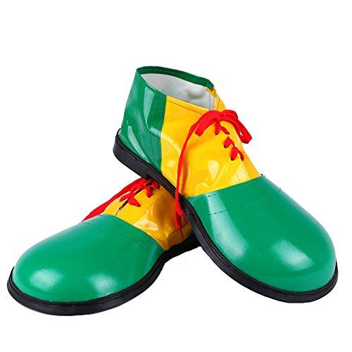 Honeystore Unisex Erwachsene Jumbo Large Clown Schuhe Halloween Kostüme Accessories Zubehör Fasching Karneval Grün