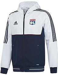 2017-2018 Lyon Adidas Presentation Jacket (White)