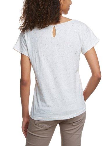VERO MODA Damen T-Shirt 10090644 STEVE SS TOP, Rundhals Elfenbein (WHITE SWAN/Pattern:AS SAMPLE)