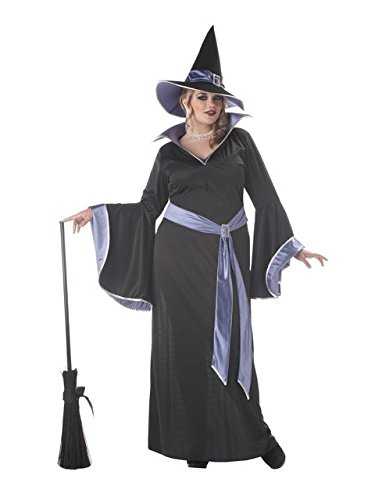 Hexe Kostüm Glamour - California Costumes Incantasia Die Glamour Hexe Plus Kostüm, mehrfarbig, Übergröße