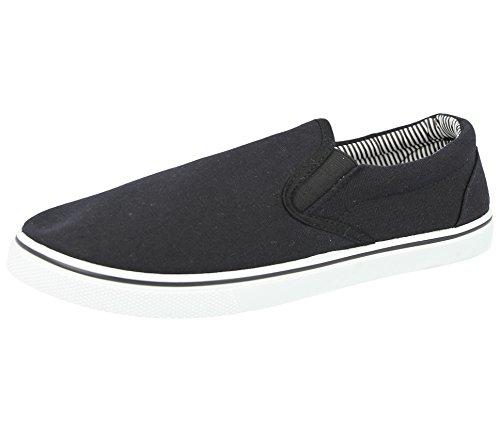 Chaussures d'été en toile pour hommes - Noir - noir, 44