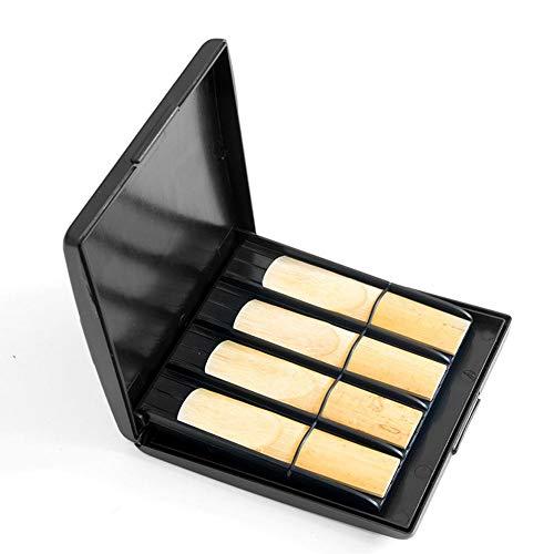 winnerruby Saxophon Reed Case Bag Saxophon Reeds Box Wasserdichter, abriebfester Aufbewahrungsbehälter mit Schlitzen für 8 Stück Blätter Schwarz