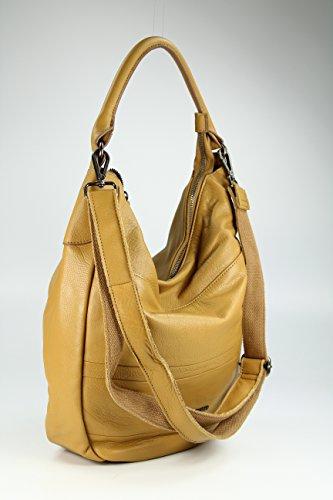 FREDSBRUDER Damen Hobo-Ledertasche DASH brown_camel, braun