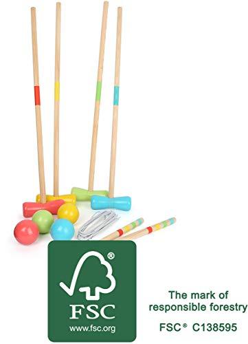 Legler Small Foot 12033 Crocket Active en Bois certifié FSC 100 % Classique pour Le Jardin, pour Chaque Groupe d'âge, Jouets, Multicolore
