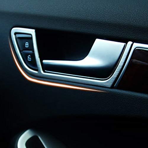 Coperchio della cornice della maniglia della porta interna della portiera di plastica dell'ABS Copertura della copertura della porta automatica della porta interna in argento opaco per A4 B8 2009-2015
