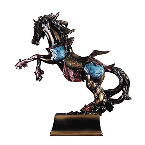 ZLBYB Top Collection griechische Pegasus-Statue - Fliegende Pferdeskulptur in Premium Cold Cast Bronze - Sammlerstück Home Decor Figur -