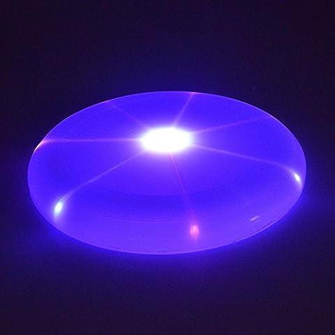 K&C Bestrahlungsplastik Fliegen Discs Flashflight LED leuchten Flying Disc, LED Frisbee Full Size Flying Disc mit mehrfarbigen Bright Changing Lights (zufällige Farbe)