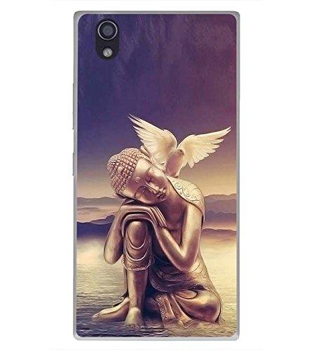 YuBingo Soft Silicone Back Case for Lenovo P70   Lord Buddha with The Dove   Designer UV Printed Mobile Cover   Shockproof   360 Coverage   Slim   Light