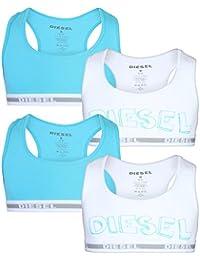 4e5d62e6b1fa1 Diesel Girls Cotton Spandex Racerback Sports Training Bra (4 Pack)