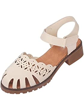 Con el áspero con las sandalias femeninas hueco Baotou zapatos del estudiante salvaje verano , meters white ,...