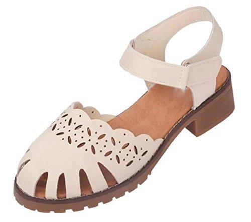 Mit der rauen mit den weiblichen Sandalen hohlen Sommer Baotou wilden Schuhe Student meters white