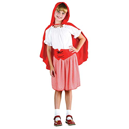 Rotkäppchen-Märchen-Kostüm (Little Red Riding Hood Little Girl Kostüm)