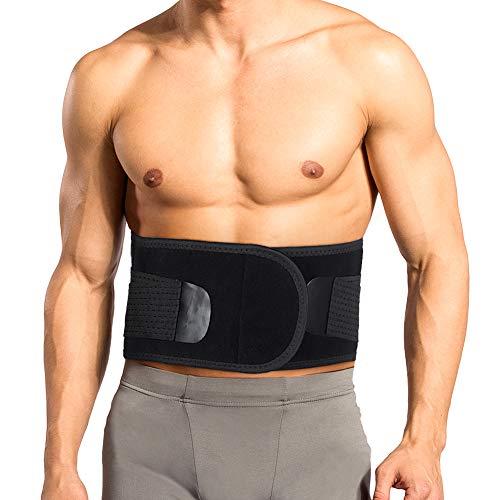 Rückenstützgürtel Lendenwirbel Rückenbandage Rücken Gurt Lendenwirbelstütze mit Integrierte 4 Stahlstreifen zur Schmerzlinderung, zur Damen und Männer, Groß 33-44 Zoll