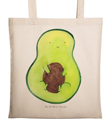 Mr. & Mrs. Panda Beutel, Einkaufstasche, Tragetasche Avocado mit Kern - Farbe Transparent -
