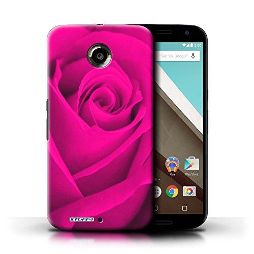 Kobalt® Imprimé Etui / Coque pour Motorola Nexus 6 / Rouge conception / Série Rose Rose