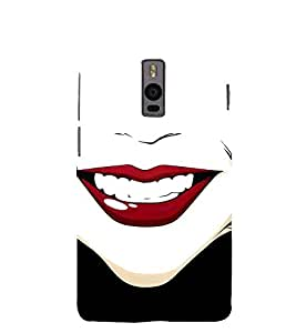 Red Lips 3D Hard Polycarbonate Designer Back Case Cover for OnePlus 2 :: OnePlus Two