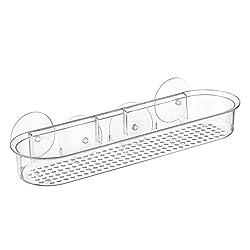 InterDesign Plastic Suction Shower/Tub Caddy, Clear