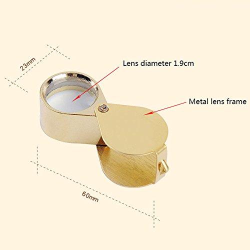 WSWJJXB 30-fache Vergrößerungsglas-High-Definition-Mini-Handheld-Schmuckidentifikation 100 Erweiterungsspiegel (Farbe : Silber)