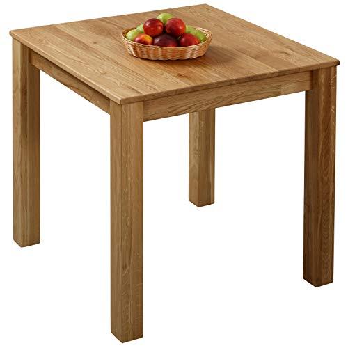 Tavolo da pranzo in legno di quercia 75 x 75 x 75 cm