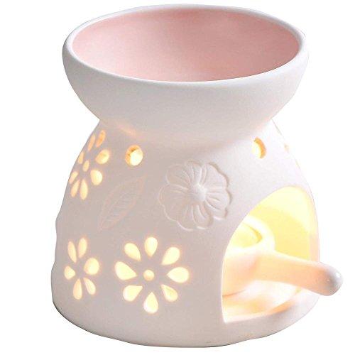 Scheda dettagliata Bruciatore di olio essenziale del supporto di candela, bruciatore a olio della libellula del regalo e della casa, supporto di candela del Tealight Set regalo lampada profumata Set regalo lampada