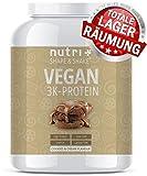 EIWEIßPULVER VEGAN Cookies & Cream 1kg - 81,9% Eiweiß - Nutri-Plus Shape & Shake3k-Protein - Veganes Proteinpulver ohne Laktose und Milcheiweiß - In Deutschland hergestellt