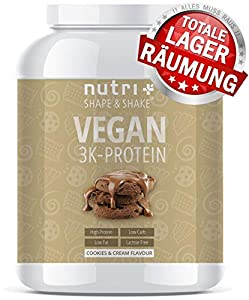 EIWEIßPULVER VEGAN Cookies & Cream 1kg - 81,9% Eiweiß - Nutri-Plus Shape &...