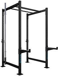 CAPITAL SPORTS Dominate Edition Set 6 Jaula musculación entrenamiento acero (4 pilares verticales 228cm, 1 barra doble 110cm, 4 traviesas laterales, 2 brazos seguridad, soporte barra pesas 50mm, 2x gancho J)