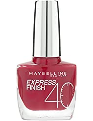 Maybelline New York Make-Up Nailpolish Express Finish Nagellack Cherry / Ultra schnelltrocknender Farblack in sattem Kirschrot, 1 x 10 ml